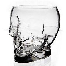 Cristales de vidrio recipiente de cráneo Decoración-Jay Transparente En Forma De Florero O Halloween Novedad