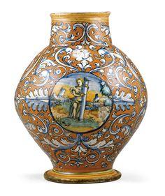 A Faenza maiolica vase circa 1530  SOLD. 18,750 GBP