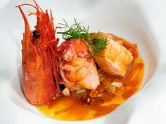 Receta   Cazuela de salmón y carabineros - canalcocina.es