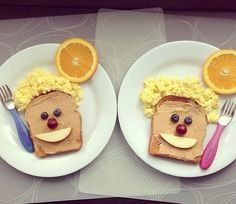 children Food Art - Kids wanted breakfast for dinner I happily obliged ) cutefood Cute Snacks, Fun Snacks For Kids, Cute Food, Kids Meals, Kid Snacks, Funny Food, Food Art For Kids, Cooking With Kids, Easy Cooking