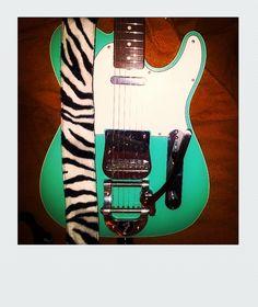 Sea foam Green Telecaster, Falsa Polaroid - Galaxi S2 internal camera, Instagram, Photoshop