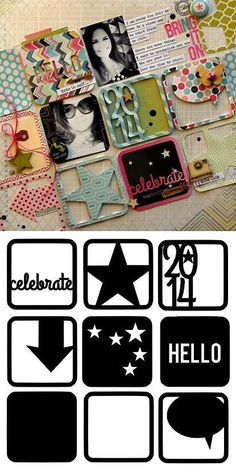 Free cutting file - for New Year's scrapbooking or project life - from designer Nicole Nowosad #Silhouette #CutFile