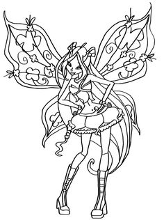 winx club witches coloring pages - photo#21
