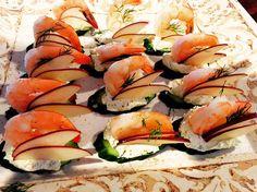 Shrimp Cocktail Canapé #soundviewcaterers #menumonday #food #shrimp