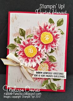 painted harvest, RubberFUNatics: Painted Poinsettias