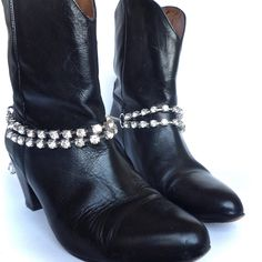 A little bling & sparkle for January. Boot Jewelry from www.bootbooti.etsy.com