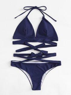 self tie wrap bikini set. #borntowear #fashion #tops #swimwear
