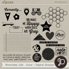 Everyday Life - June | Digital Stamps by Juno Designs