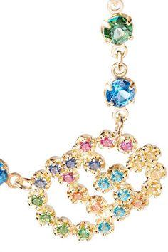 Gucci 18-karat Gold Multi-stone Bracelet MuXeZ7