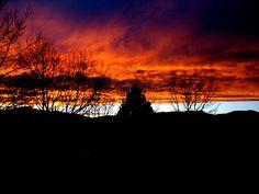 Sunset, Pikes Peak, Mood, Clouds