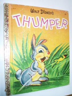 LITTLE GOLDEN BOOK WALT DISNEY'S THUMPER by ussiwojima, via Flickr