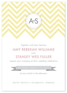 #Lweddinginvites maybe incorporate banner w/chevron stripes?