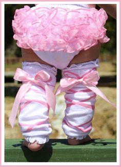 Ballerina Bow Ruffled LegWarmers