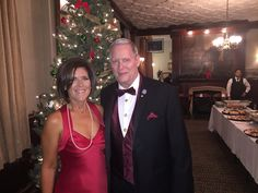 Victoria & Robert Parry, husband and wife real estate team at the annual Christmas party in Chelsea