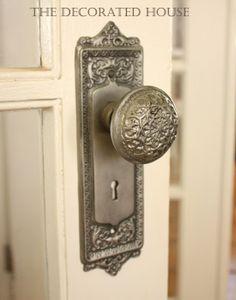 Gorgeous doorknob, via www.thedecoratedhouse.blogspot.com.au