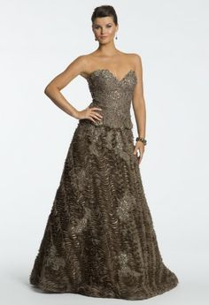 Sleeveless Lace Raw Edge Gown from Camille La Vie and Group USA #homecoming #homecomingdresses #prom