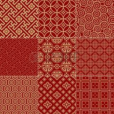 Seamless Traditional Auspicious Chinese Mesh Pattern Royalty Free Cliparts, Vectors, And Stock Illustration. Chinese Design, Asian Design, Chinese Art, Chinese Theme, Batik Pattern, Pattern Art, Pattern Design, Graphic Patterns, Textile Patterns