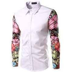 aa7312f39f96 Stylish Printed Colorful Shirt - Flowers (3 colors) · Casual Shirts For  MenMen ...