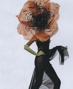 """The Stuff of Fantasy"", Philip Treacy hat photographed by Irving Penn for Vogue US April 1998"