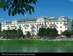 Hotel Sacher Salzburg (1866) -- great place to stay and they also have wonderful restaurants, cafe and outdoor terrace along the Salzach River, overlooking the Altstadt (beautiful). (Second choice would be the Goldener Hirsch hotel in the Getreidegasse - very charming)