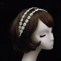 Stylish Lace With Rhinestone Women's Headbands - USD $ 4.89