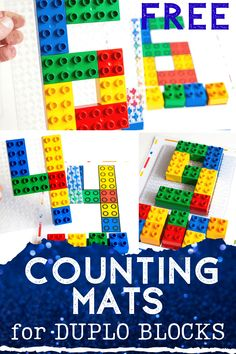 Free printable counting activity for DUPLO blocks. Count to 10 with DUPLO in your preschool math activities. Space Activities, Counting Activities, Preschool Learning Activities, Hands On Activities, Stem Activities, Preschool Activities, Kindergarten Learning, Math Literacy, Fun Math