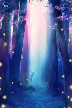 Secret forest. ✮ sugarmints artblog ✮