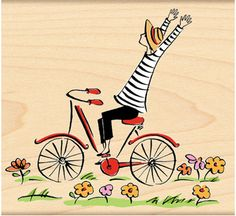 Bicycles - Rubber Stamps - 123Stitch.com
