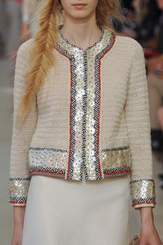 Crochetemoda: Casaqueto de Crochet Bege