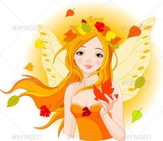 Autumn Fairy with Leaf Illustration of beautiful Autumn fairy with Maple Leaf. EPS 8 (editable), JPG (high resolution) Created: GraphicsFilesIncluded: JPGImage Layered: No MinimumAdobeCSVersion: CS Tags: art Maple Leaf Clipart, Fairy Gifts, Autumn Fairy, Illustration, Fantasy, Clipart Images, Digital Stamps, Vector Design, Royalty Free Images