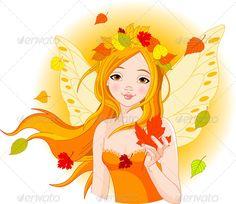 Őszi Tündér Leaf - Évszakok / Holidays Koncepcionális