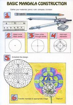 BASIC INSTRUCTIONS FOR MANDALA CREATION