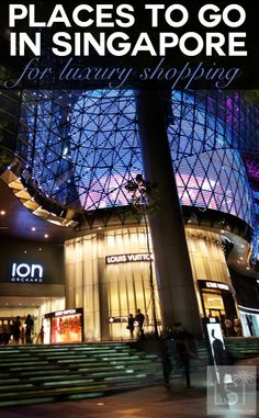 Places to go in Singapore for luxury shopping. Singapore is an urban marvel, with an intriguing personality like no other destination. And you don't have to venture far for luxury with hotels, shopping and some of the finest restaurants in Asia tempting more than 15 million visitors each year. ION Orchard is one of the most popular shopping outlets in the capital housing shops from major designer brands. Discover even more reasons to fall in love with the Lion City in our travel highlights.