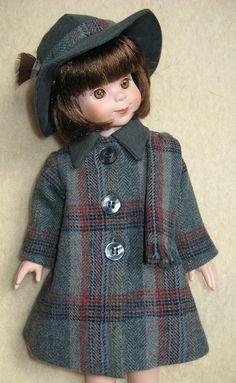 Wool Coat and Hat for 14 Inch Tonner Betsy by ByLittleRedHen, $35.00