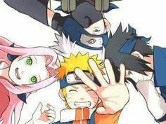 Kakashi, Sasuke, Naruto and Sakura, by Pixiv Id 4120657 Naruto Gif, Naruto Team 7, Naruto Kakashi, Naruto Shippuden, Boruto, Naruto Cute, Naruto Images, Naruto Pictures, Gaara