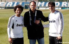 São Paulo Futebol Clube - Rogério Ceni é destaque no site do Real Madrid. Rogério com Marcelo e Kaká