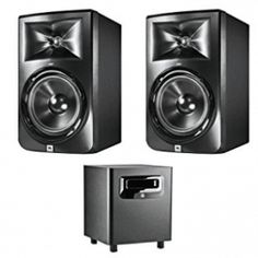 JBL LSR308 8-inch Two-Way Powered Studio Monitors (PAIR) w/ 1 JBL LSR310S Monitor, Technology, Studio, Top, Macs, Coloring Books, Boxes, Floral, Tech