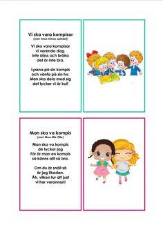 Mariaslekrum - Illustrerade sånger. Teacher Education, School Teacher, Pre School, Learn Swedish, Swedish Language, Daycare Crafts, Circle Time, Montessori, Activities For Kids