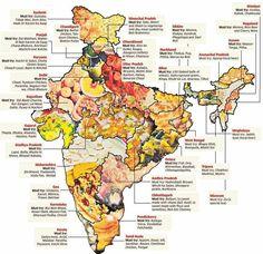 Indian Food Map