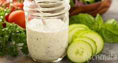 7 Reasons You Should Never Eat Ranch Dressing — Delish Healthy Eating Tips, Healthy Nutrition, Healthy Recipes, Quinoa Sushi, Herbs For Health, Vegetable Drinks, Tapenade, Ranch Dressing, Cooking With Kids