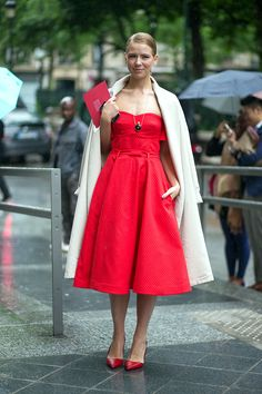 Couture, Couture! Street Style Fall 2014 dress, shoes