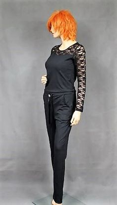 Jumpsuits with lace sleeves