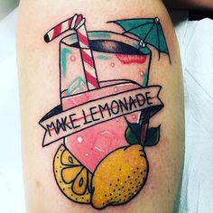 When life gives you lemons #lemon #lemonade #lemonadetattoo #lemontattoo…