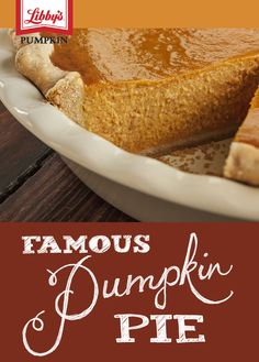 Our famous pumpkin pie recipe has been a Thanksgiving favorite for more than 75 years. And after one bite, you'll know why.