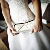 pleated bridal clutch purse in white (by sara c accessories)