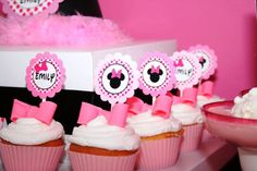 Minnie Mouse Cupcake toppers...available for purchase in assembled and printable form.