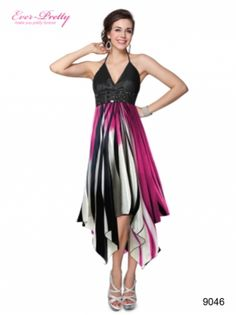 Ever Pretty I Sexy Halter Rhinestones Printed Empire Waist Cocktail Dress $49.99  #printeddress #cocktaildress