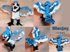 Bluejay -- Pipecleaners by kalicothekat on deviantART Projects For Kids, Art Projects, Crafts For Kids, Arts And Crafts, Blue Jay, Pipe Cleaner Projects, Pipe Cleaner Animals, Crafty Craft, Crafting