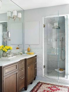 Neutral cabinets can get a modern-day wakeup with new cabinet hardware. Pick different styles from the same family -- say, long pulls for drawers and small knobs for doors -- or mix and match different finishes for a more eclectic look.