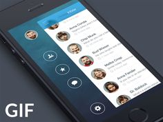 Dribbble - iOS7 Sidebar Animation (GIF) by Stan Mayorov #UImotion
